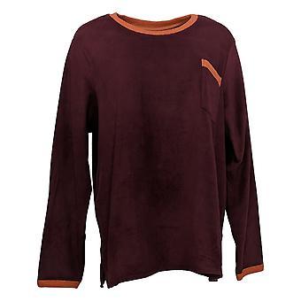 Cuddl Duds Women's Fleecewear Stretch Pajama Top Red A387657