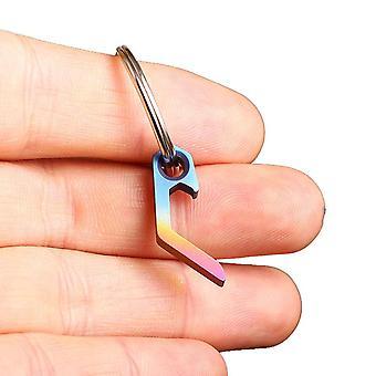 IPRee EDC Flasche Zinn Dosenöffner Schlüsselanhänger Mini Titanlegierung Edelstahl Pocket Kit Werkzeug