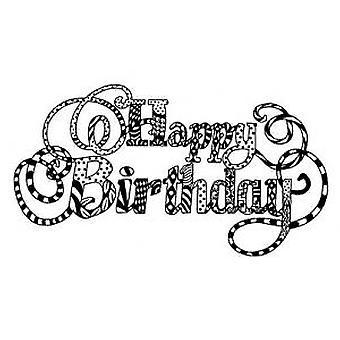 Creative Expressions Zentangles Happy Birthday Stamp