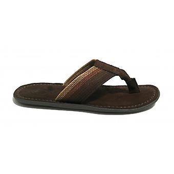 Men's Shoes Elite Slipper Flip Flops Multicolor Band And Suede Moro Head Us18el08
