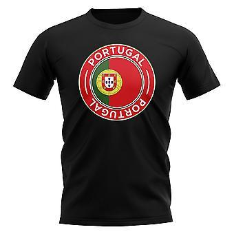 Portugali Jalkapallo Merkki T-paita (Musta)