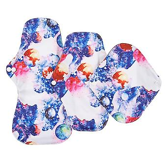 3pcs Reusable Menstrual Pads Waterproof Hygiene Napkin Panty Pads