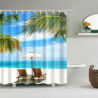 Old Building Landscape Scenery Print Shower Curtain 3d Blackout Shower Curtain