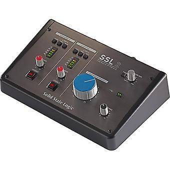 Solid state logic ssl2 2x2 usb-c audio interface with 2 48v mic pre-amps, 4k analog processor, monitor control, headphone preamp, 24-bit / ps93415