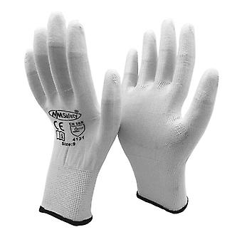 Polyurethane Dipping Finger Anti Static Safety Work Glove
