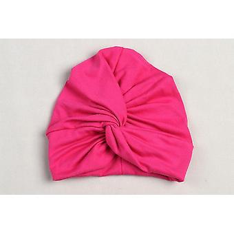 Söpö puuvilla sekoitus vauvan turbaani hattu vastasyntynyt beanie caps lasten päähine vauva