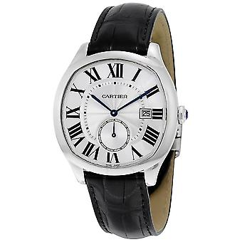 Cartier Drive Automatic Silvered Flinque Dial Men's Watch WSNM0004