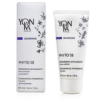 Yonka Age Defense Phyto 58 Creme With Rosemary - Revitalizing, Invigorating (Dry Skin) 40ml/1.38oz