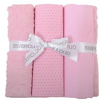 East Coast Cot Bed Sheet Bale Pink