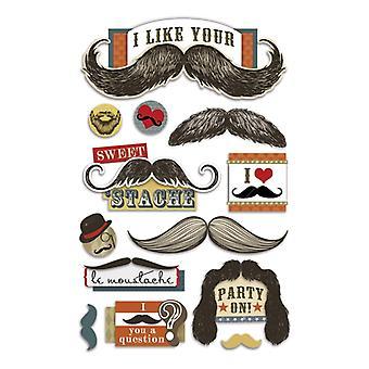 Paper House Productions - 3D Stickers - Mustache