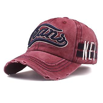 Unisex Baseball Letter Retro Casual Cotton Streetwear Cap