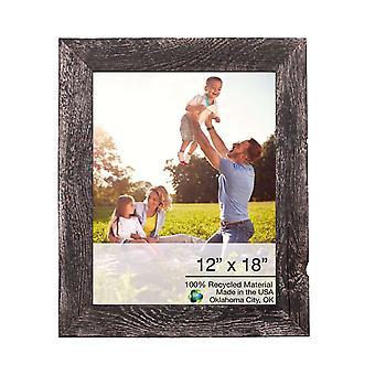 """12"""" x 18"""" rustieke boerderij rustieke zwarte houten frame"""