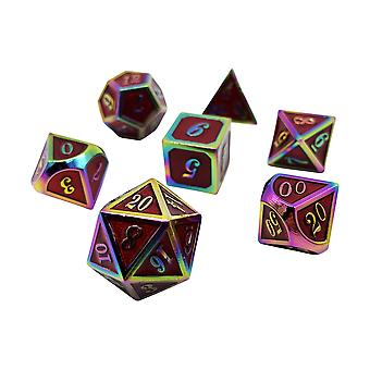 Prismatic Vitae - 7 Piece Red Chromatic Metal Dice Set