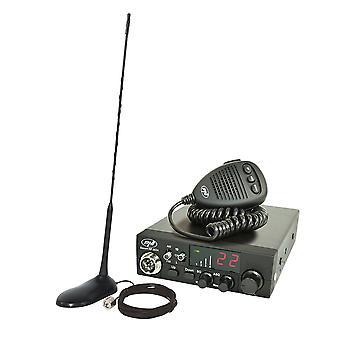 CB PNI ESCORT CB 8024 ASQ 12 / 24V radio CB + CB PNI Extra 45 magnet antenna