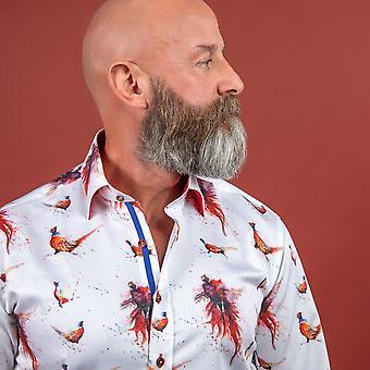 NON-DISCOUNTED / SALE ITEM Fiery Pheasant Print Shirt