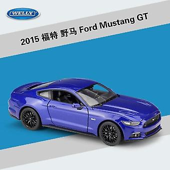 Welly 1:24 Ford Mustang GT legering auto model (blauw)