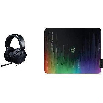 FengChun Kraken - Gaming Headset (Kabelgebundene Kopfhörer für PC, PS4, Xbox One Switch) schwarz