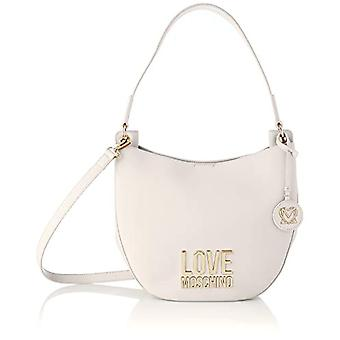 Love Moschino Pre-Collection SS21 Hobo PU Bag for Women, Small, Ivory, Normal