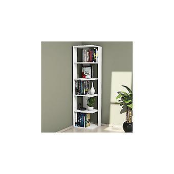 Corner White Library, i Truciolare Melaminico L41.8xP41.8xA160.8 cm