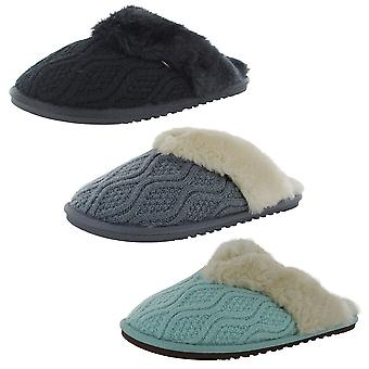 LAMO Womens Caroline Knit Scuff Slipper Shoes