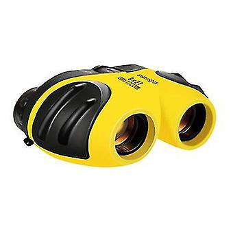 Żółta kompaktowa lornetka odporna na wstrząsy dla dzieci x4262