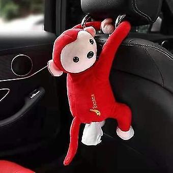 Red pippi monkey paper napkin case cute cartoon animals car paper boxes x2763