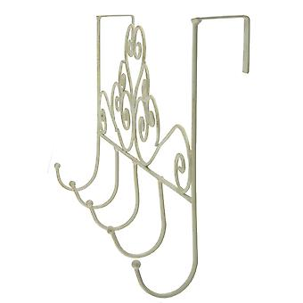 Cream Scroll Overdoor 5 Hooks
