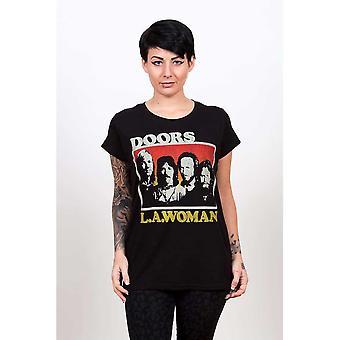 Doors - The - LA Woman Ladies XX-Large T-Shirt - Black