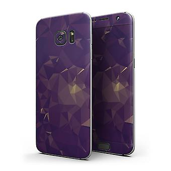 Abstract Purple And Gold Geometric Shapes - Full Body Skin-kit For The
