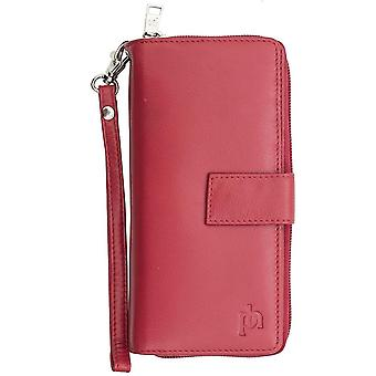 Primehide Ladies Luxury Large Leather Smart Phone Monedero con correa de muñeca