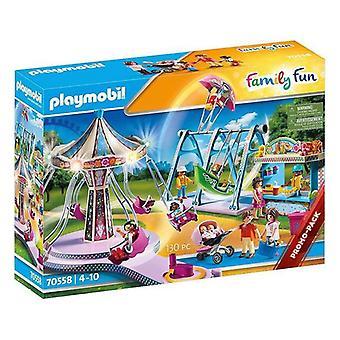 Playset Family Fun Great Amusement Park Playmobil 70558 (130 pcs)