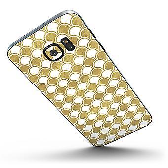 White And Gold Foil V2 - Full Body Skin-kit For The Samsung Galaxy S7