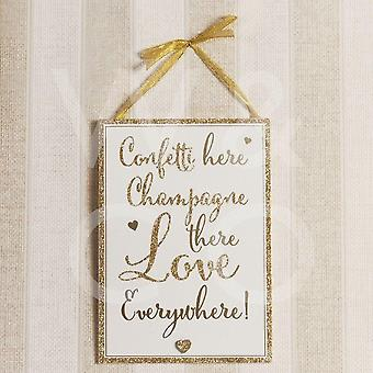 Always &Forever Confetti &Champagne Plaque