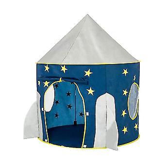 Raketskepp tält utrymme tema Låtsas spela tält utrymme spela house spaceship tält (blå)
