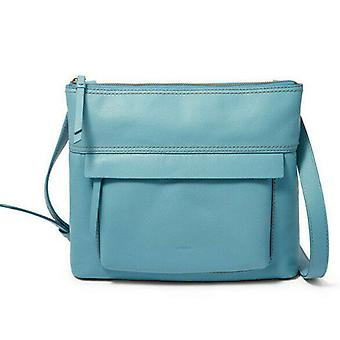 Fossil Aida Crossbody Caribbean Blue Leather Handbag Bag SBH2011981