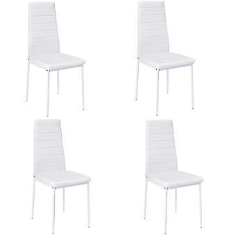 Ensemble de 4 PU cuir rembourré chaise à manger