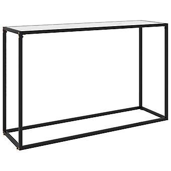 vidaXL console table White 120x35x75 cm Tempered glass