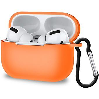 Shock-Absorbing Protective Cover for AirPods Pro Supports Wireless Charging (Orange)(Orange)
