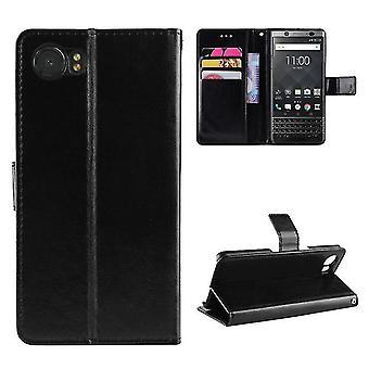 Étui pu leather wallet pour BlackBerry DTEK 70 Black