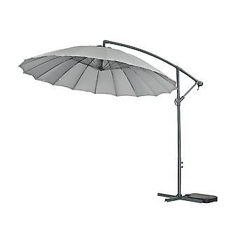 Parasol de jardin Alu «Lili 3» - Style japonais - Ø3m - Gris