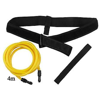 (6mm * 9mm * 4m) Swim Bungee Training Belt Rope Stationary Swimming Resistance Band Teather Leash