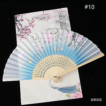Chinese Vintage Style Folding Fan Art Craft Gift Dance Hand Fan Home Decoration Ornaments(#10)