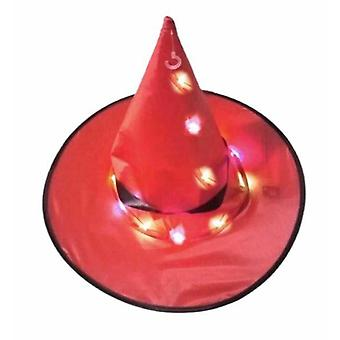 Halloween Witch Hat Wizard Cap With Colorful LED Light For Dancing Party Decoration