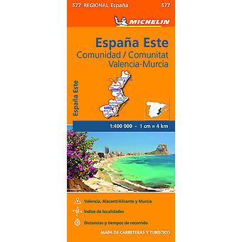 Comunidad Valenciana Murcia  Michelin Regional Map 577 Map Michelin Regional Maps 577