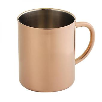 2 Pcs 304 Stainless Steel Dual Layer Anti Scalding Coffee Beer Mug Cup