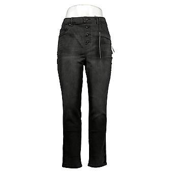 DG2 by Diane Gilman Women's Jeans Stretch Waist Skinny Jegging Black 733923
