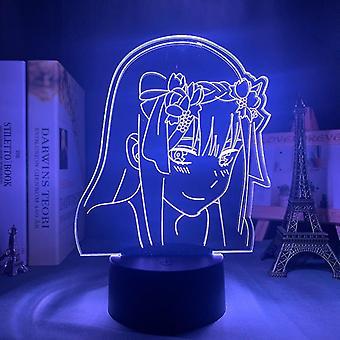 Anime 3d Lampa Zero Dwie figurki Sypialnia Nocna