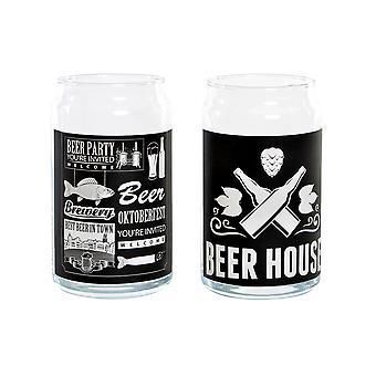 Beer Glass DKD Home Decor Crystal (2 pcs) (7.5 x 7.5 x 13 cm)