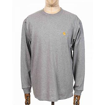 Carhartt WIP Chase T-shirt met lange mouwen - Heather Grey