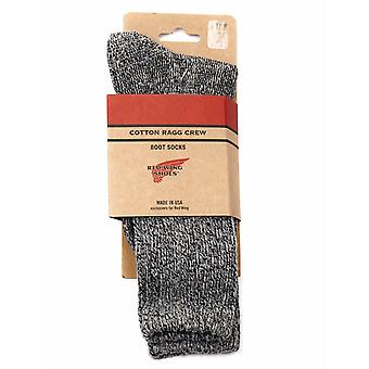 Red Wing 97373 Cotton Ragg Over Dyed Tonal Sock - Black/gray